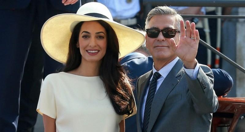 Clooney e Amal brindano con Ornellaia