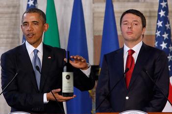Obama-Renzi-Sassicaia